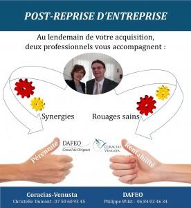 Réussir son acquisition d'entreprise : DAFEO et Coracias-Venusta vous accompagnent dans votre post-reprise
