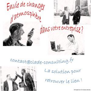Vous souhaitez retrouver une sérénité dans vos échanges avec vos équipes pour une communication constructive. Clade-Consulting et Coracias-Venusta ont la solution.